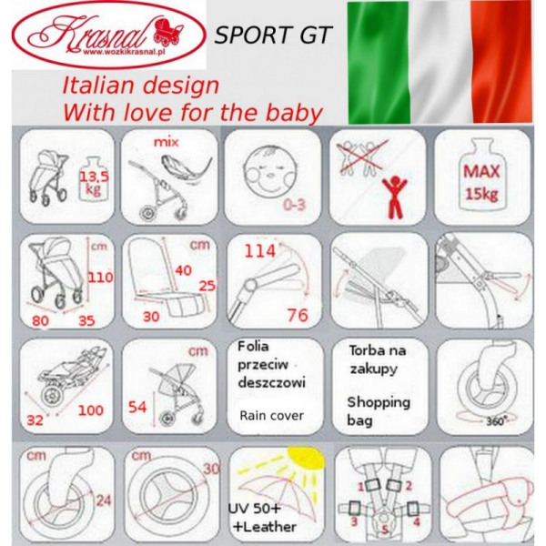 Carucior Krasnal Sport GT 4