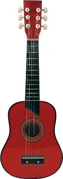 Chitara lemn 62 cm. - Lemn rosie - New Classic Toys 0