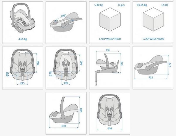 Cos auto copii 0-13 kg Pebble Plus I-Size Maxi Cosi 1