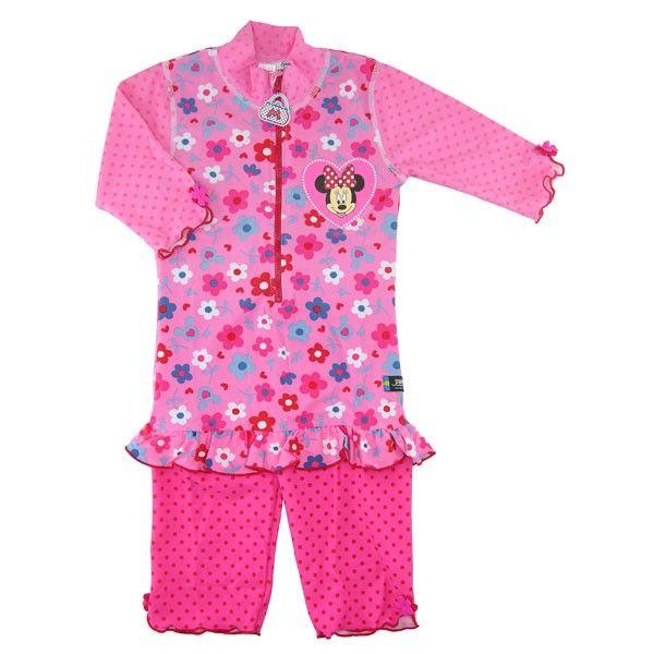 Costum de baie Minnie Mouse marime 98-104 protectie UV Swimpy 0