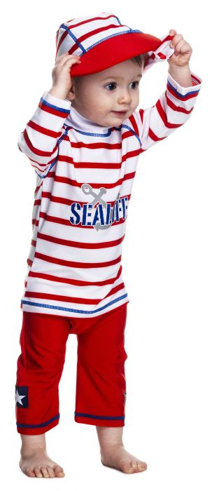 Costum de baie SeaLife red marime 86- 92 protectie UV Swimpy [0]