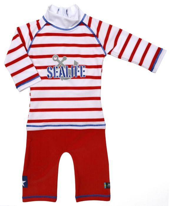 Costum de baie SeaLife red marime 86- 92 protectie UV Swimpy [1]