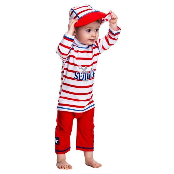 Costum de baie SeaLife red marime 98- 104 protectie UV Swimpy 0