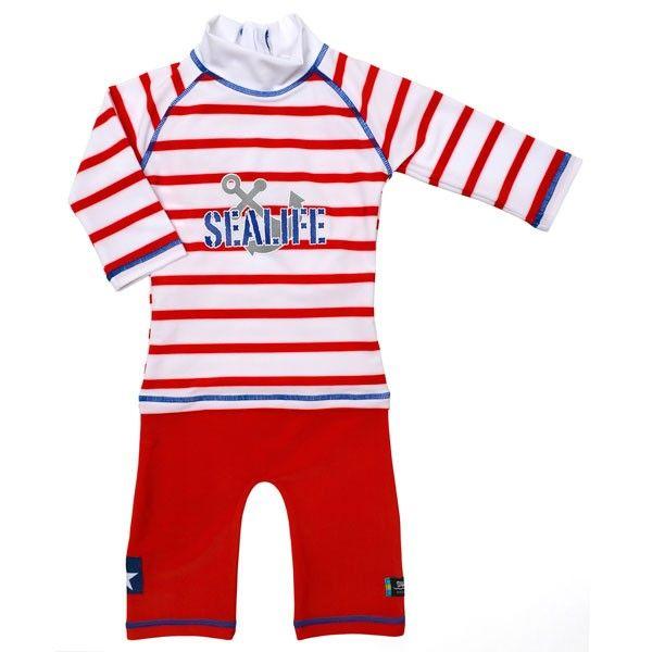 Costum de baie SeaLife red marime 98- 104 protectie UV Swimpy 1