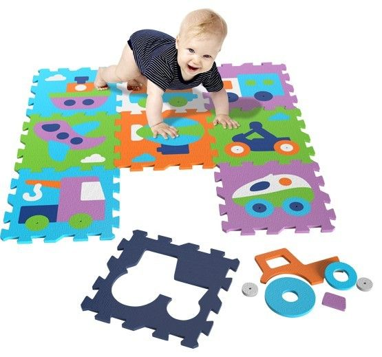 Covor puzzle din spuma Vehicles 9 piese - Knorrtoys 0