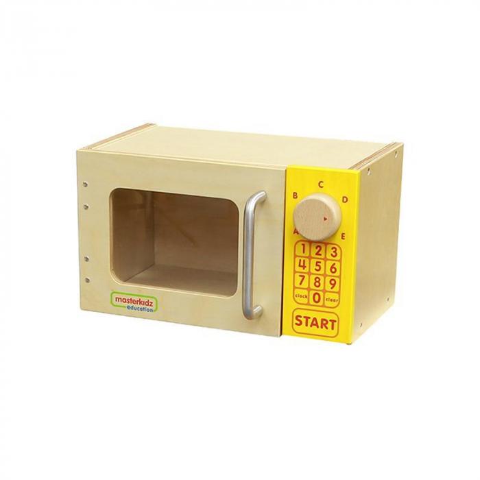 Cuptor cu microunde de jucarie, din lemn, +3 ani, Masterkidz, pentru gradinite 0