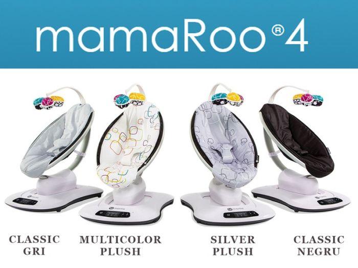 Fotoliu balansoar bebe 4MOMS MamaRoo 4.0 Plush Multicolor 6