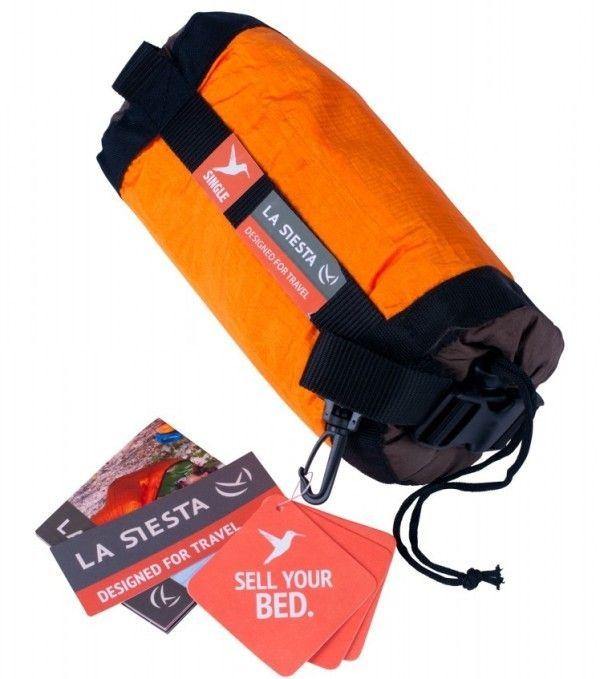 Hamac 1 pers Colibri Travel orange - La Siesta 6