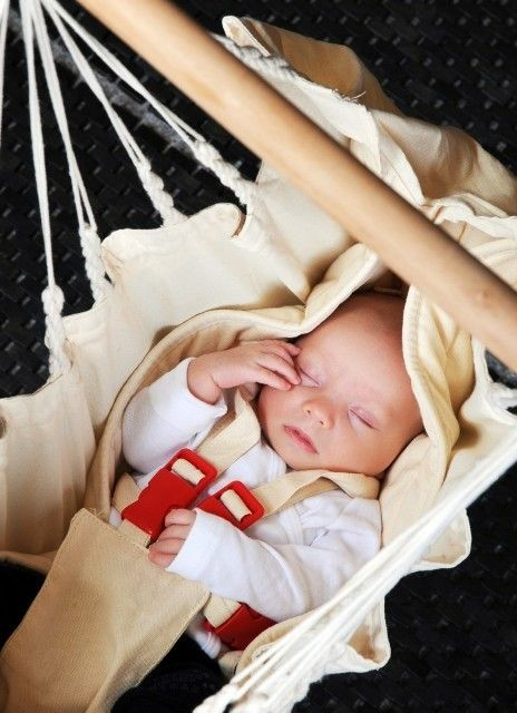 Hamac bebe Yayita Organic ecru - La Siesta 0