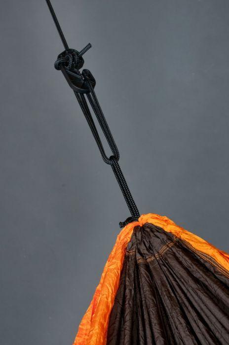 Hamac drumetie 2 persoane Colibri portocaliu+accesorii fixare - La Siesta 1