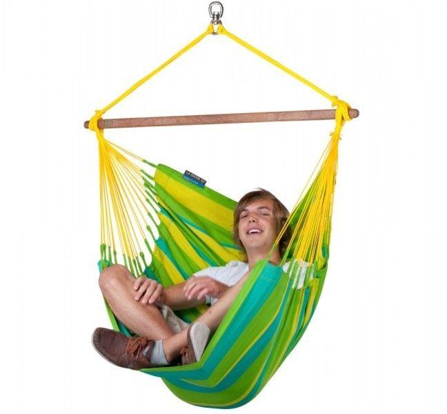 Hamac scaun Sonrisa Basic lime - La Siesta 6