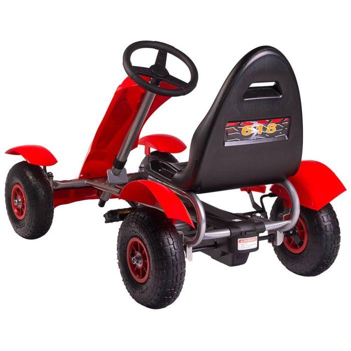 Kart cu pedale F618 Air rosu Kidscare 3