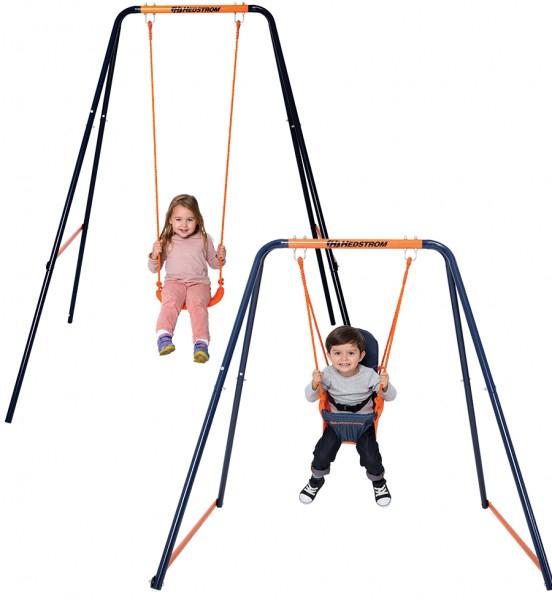 Leagan 2in1 pentru bebelusi si copii MVS pentru exterior din metal [0]