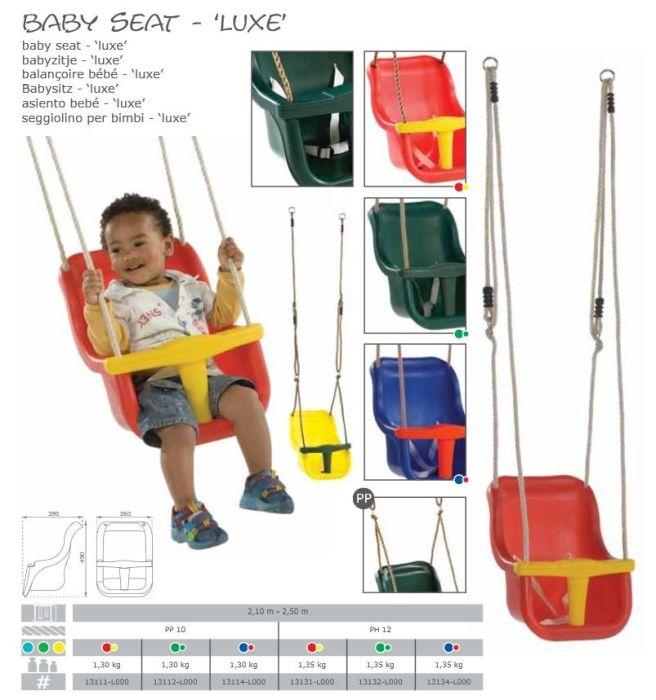 Leagan Baby Seat LUXE Culoare: Rosu/Galben, franghie: PP 10 [1]
