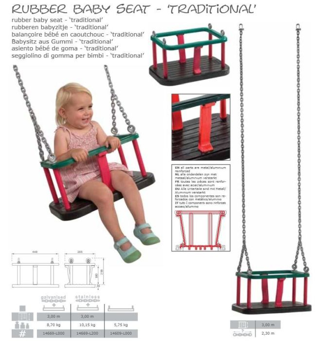 Leagan Baby Seat Traditional Cu lant galvanizat [0]