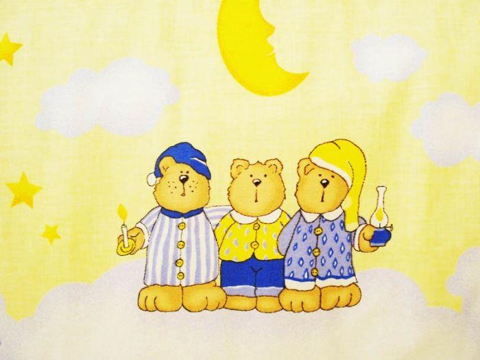 Lenjerie MyKids Teddy Norisori Albastru 4 Piese 140x70 1