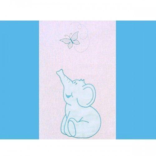 Lenjerie patut cu broderie Hubners Elefant 4 piese albastru 1