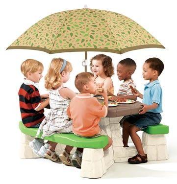 Masa picnic, cu umbrela -maro - Varianta Recolor - Step2 1