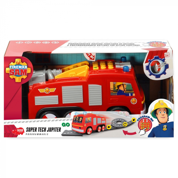 Masina de pompieri Dickie Toys Fireman Sam Super Tech Jupiter [4]