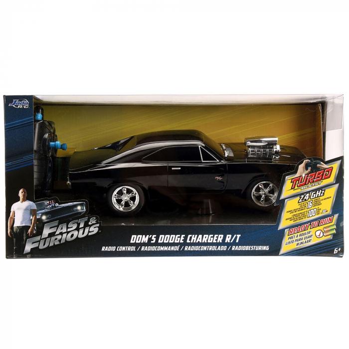 Masina Jada Toys Fast and Furious Dodge Charger 1970 cu telecomanda [11]