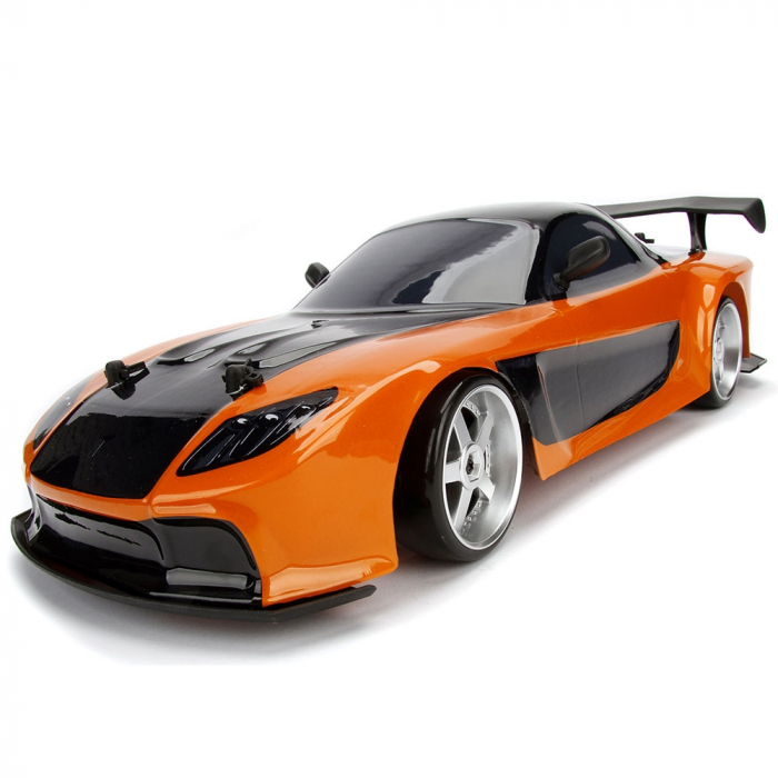 Masina Jada Toys Fast and Furious Mazda RX-7 Drift cu anvelope si telecomanda [12]