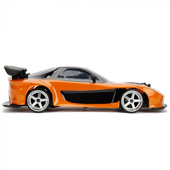 Masina Jada Toys Fast and Furious Mazda RX-7 Drift cu anvelope si telecomanda [5]