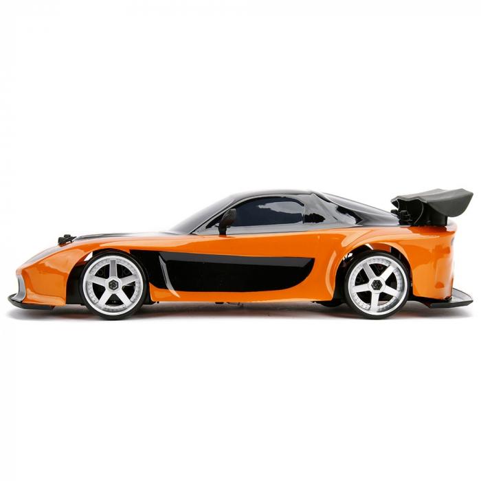 Masina Jada Toys Fast and Furious Mazda RX-7 Drift cu anvelope si telecomanda [3]