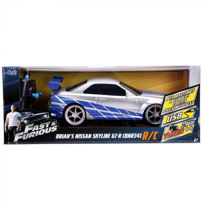 Masina Jada Toys Fast and Furious Nissan Skyline GTR cu telecomanda [9]