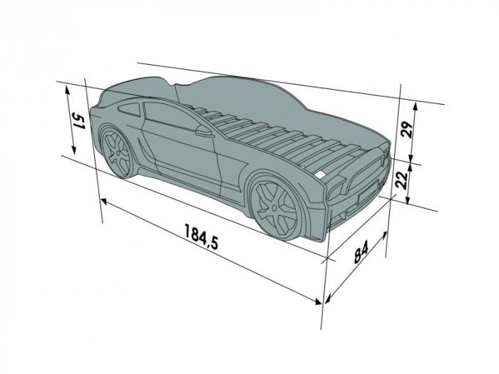 Pat masina tineret MyKids Light-MG 3D Alb [1]