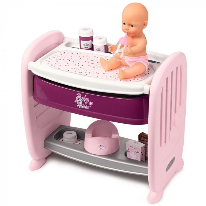 Patut Co-Sleeper pentru papusi Smoby Baby Nurse 2 in 1 [0]
