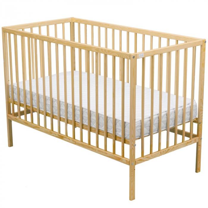Patut din lemn Maks 120x60 cm Natur + Saltea 10 cm - BabyNeeds [5]