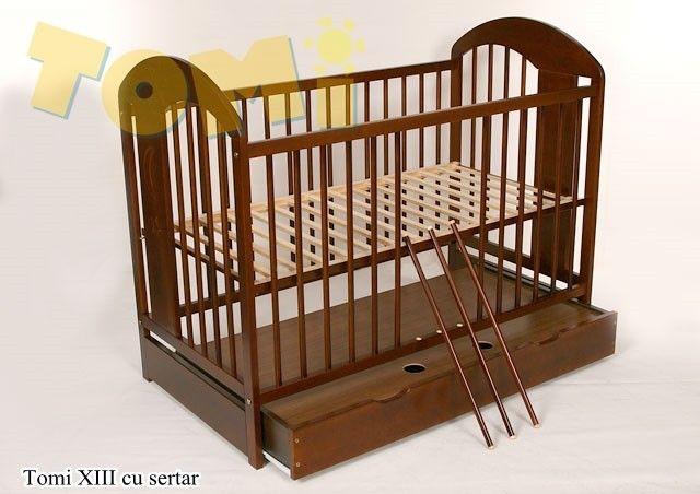 Patut din lemn Tomi XIII color cu sertar [0]
