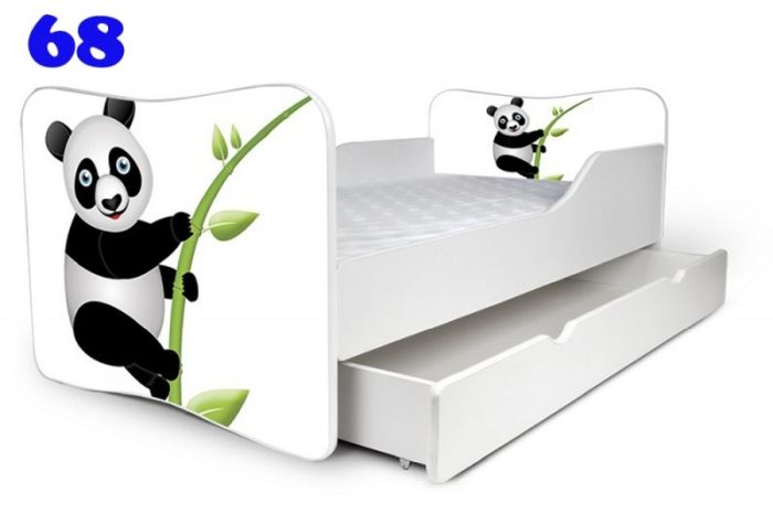 Patut Nobiko Butterfly 140x70 cu saltea si sertar C68 [0]