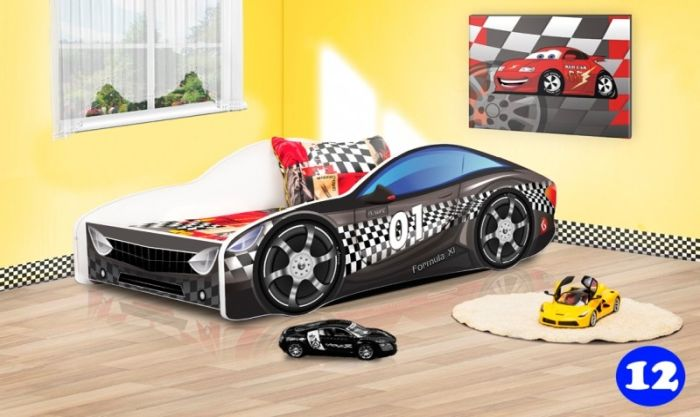 Patut Nobiko Drive 160 x 80 cu saltea - negru 12 [0]
