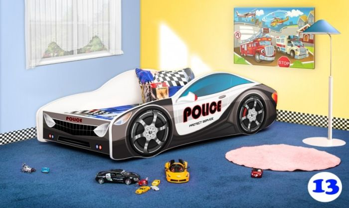 Patut Nobiko Drive 160 x 80 cu saltea - police 13 [0]