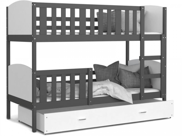 Patut tineret MyKids 2 in 1 Tami Color White/Grey-190x80 [0]