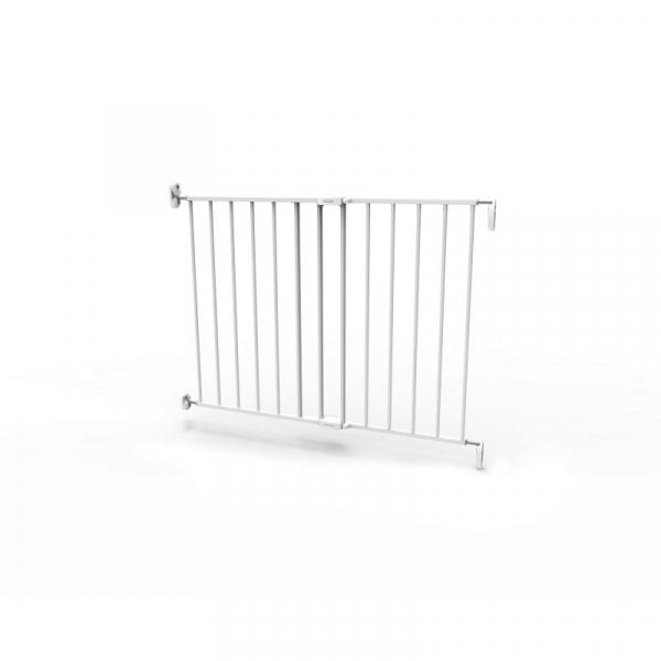 Poarta de siguranta extensibila Noma, 62-102 cm, metal alb, N93361 [9]