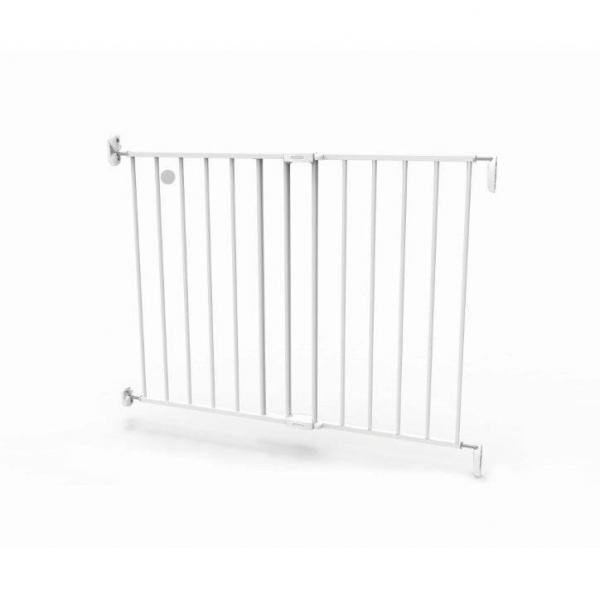 Poarta de siguranta extensibila Noma, 62-102 cm, metal alb, N93361 [6]