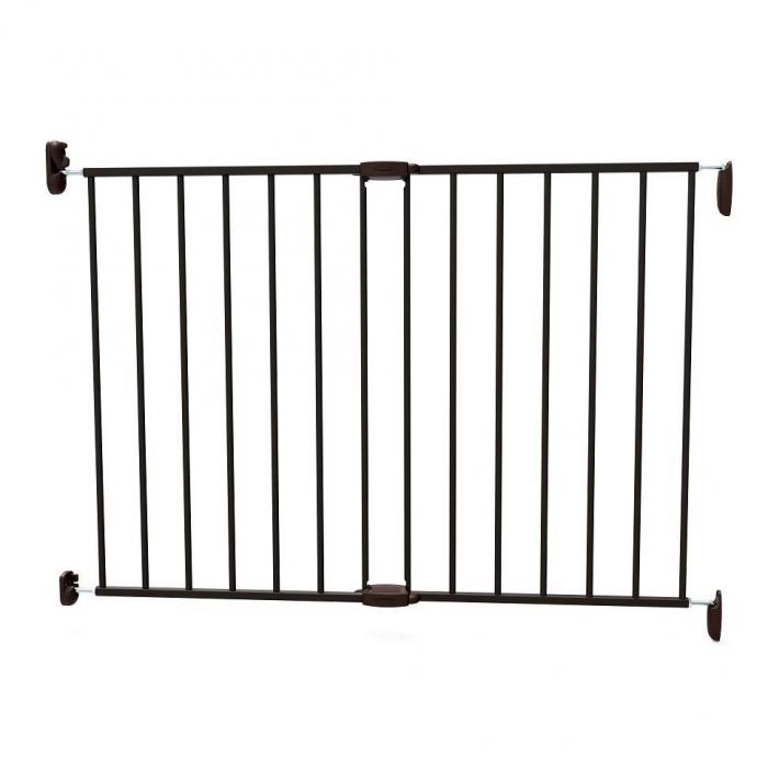 Poarta de siguranta extensibila Noma, 62 - 102 cm, metal negru, N93330 0