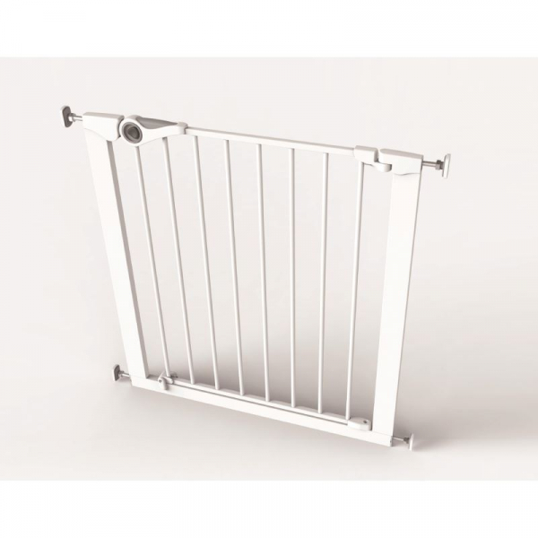 Poarta de siguranta Noma Easy Fit, presiune, 75-82 cm, metal alb, N93439 [1]