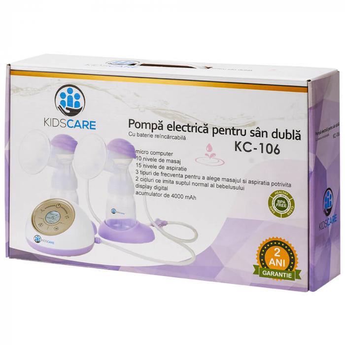 Pompa de san electrica dubla Kidscare KC106 3