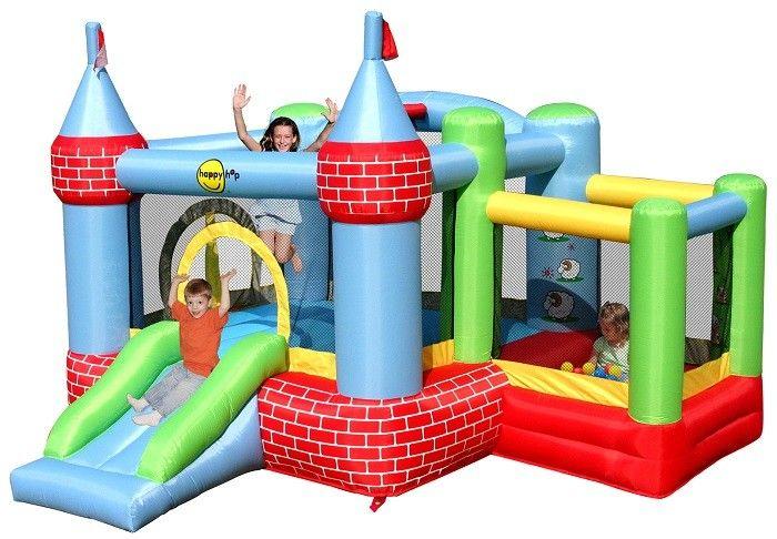 Saltea gonflabila Castel cu loc de joaca cu bile - Happy hop 0