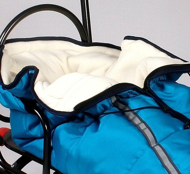 Sanie Salto + saculet material polar albastru - Skyline 1