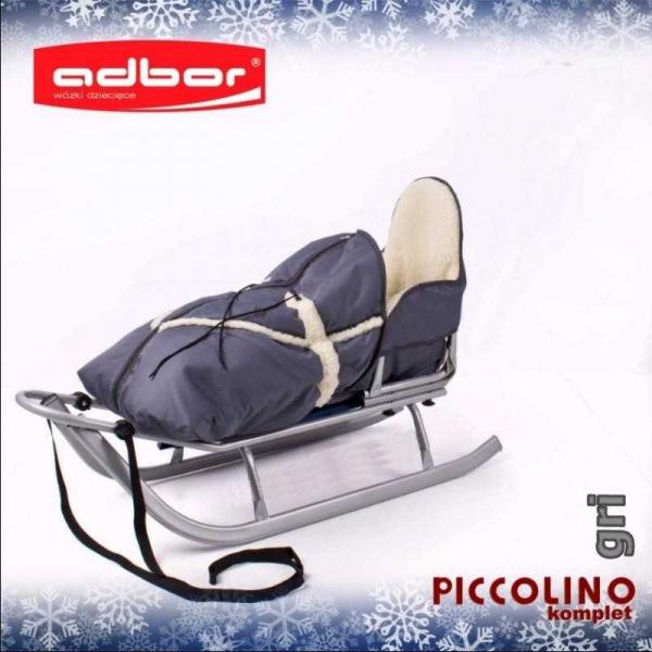Saniuta Adbor Piccolino cu saculet de iarna [0]