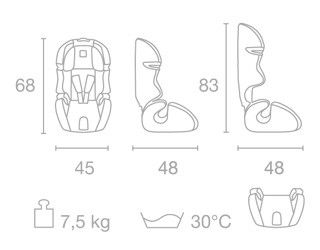 Scaun auto copii 9-36 kg S123 Kiwy 1