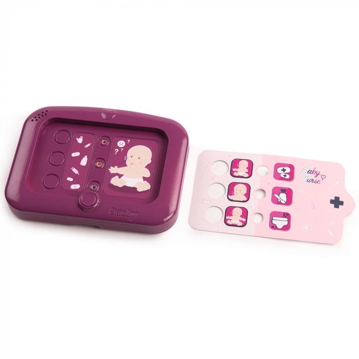 Set cadita si accesorii pentru papusi Smoby Baby Nurse Nursery mov [3]