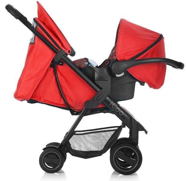 Set Carucior Acrobat Shop'n Drive Fishbone Red - Icoo 18