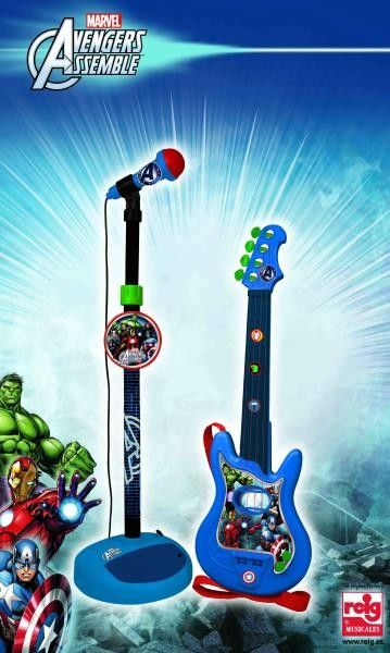 Set chitara si microfon Avengers - Reig Musicales 0
