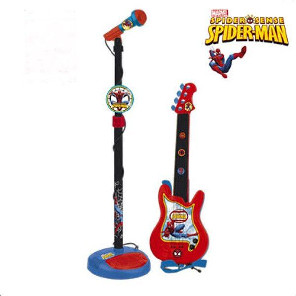 Set chitara si microfon Spiderman - Reig Musicales 0