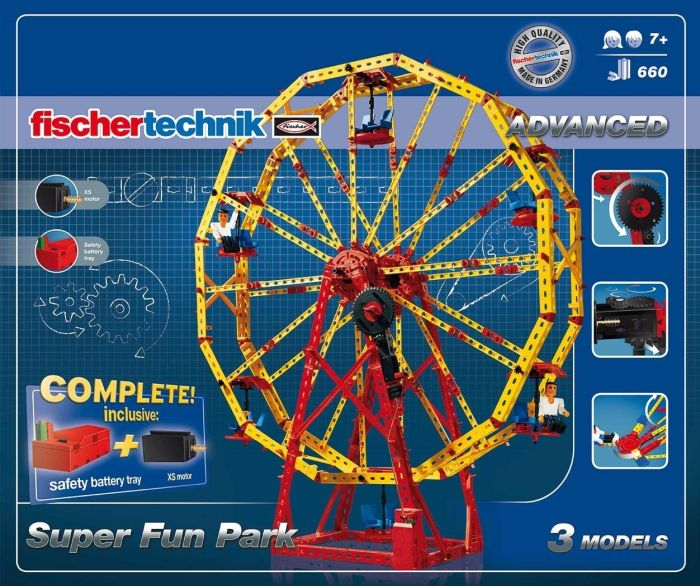 Set constructie ADVANCED Super Fun Park - 3 modele - Fischertechnik 5